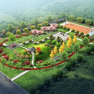 3d公園景觀模型