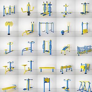 小区广场健身器材模型