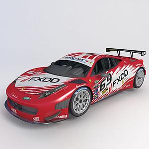 法拉利赛车GT3跑车模型