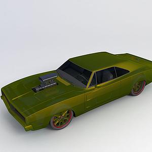 3d?道奇戰馬1969<font class='myIsRed'>汽車</font>模型