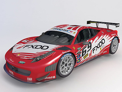 3d<font class='myIsRed'>法拉利</font>賽車GT3跑車模型