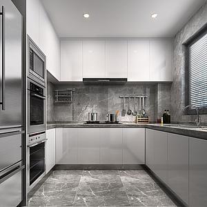 现代简约厨房模型