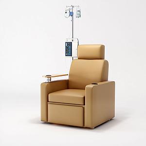 现代输液椅沙发饰品模型