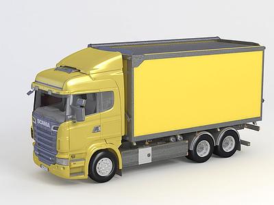3d?方形卡車 Scania R模型
