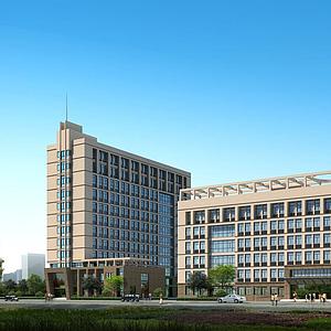 3d現代建筑辦公樓模型