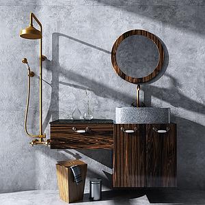 現代衛浴柜模型