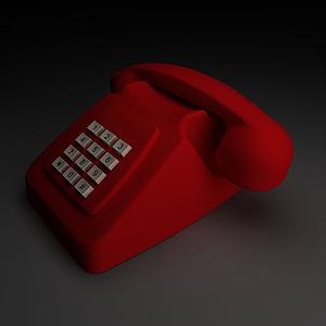 3d老式<font class='myIsRed'>電話</font>座機模型