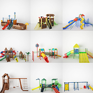 3d各種兒童<font class='myIsRed'>滑梯</font>模型