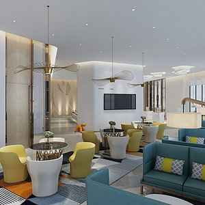 售楼处-休息区-接待区模型