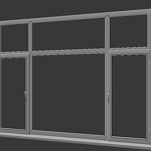 現代塑鋼窗框模型
