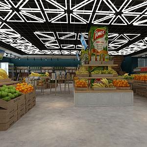 大型水果超市模型