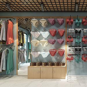 女性服装内衣店模型