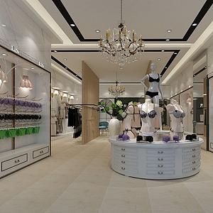 商场内衣店模型