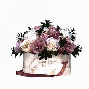 花卉裝飾花擺設模型