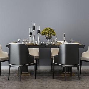 3d<font class='myIsRed'>餐厅</font>餐桌椅模型
