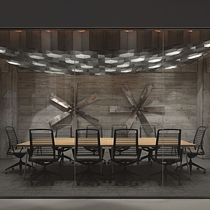 3d大型會議室模型