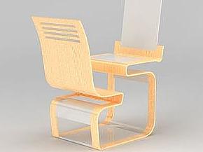 3d創意單人連體桌椅免費模型