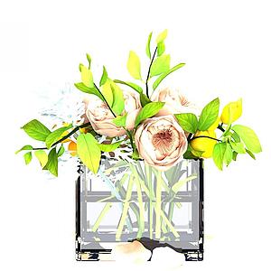 花卉裝飾品模型