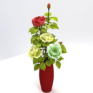 3d花卉装饰品模型