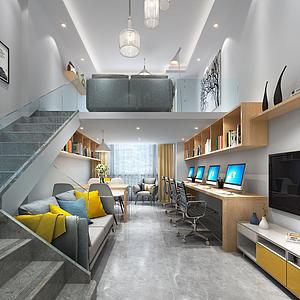 3d小公寓<font class='myIsRed'>辦公室</font>模型
