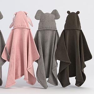 寶寶浴袍模型