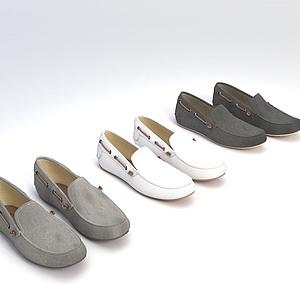休閑鞋模型