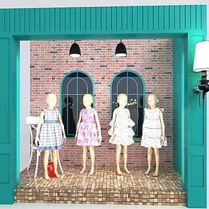 3d模特橱窗模型