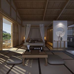 3d<font class='myIsRed'>日式</font>臥室模型