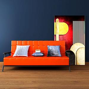 后现代家具组合模型