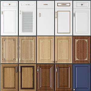 簡歐實木櫥柜門板模型