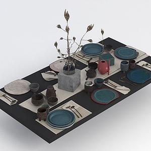 餐桌用品餐具模型