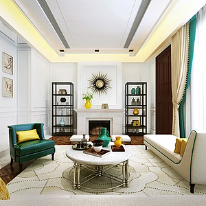 客厅空间模型