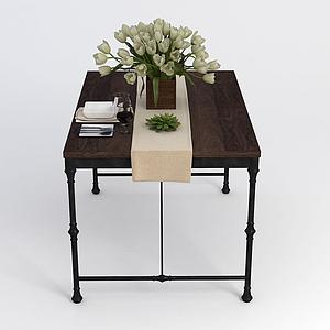 簡易餐桌模型