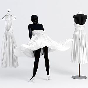 模特裙子模型