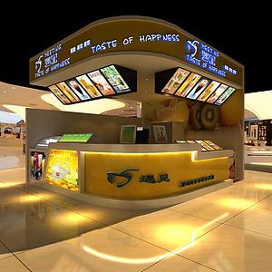 3d冷饮甜品小吃店模型