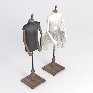 服裝店衣架模型