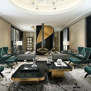 客廳空間模型