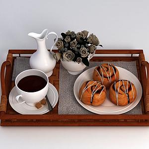 咖啡甜品模型