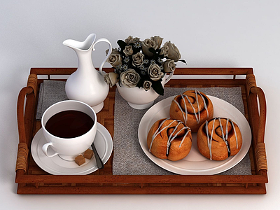 咖啡甜品模型3d模型
