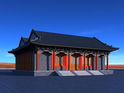 3d恭王府古建筑模型