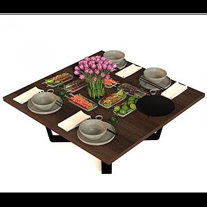 現代餐具模型