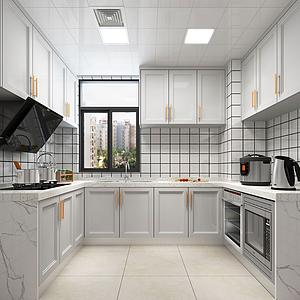 3d现代厨房模型