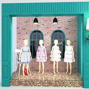 3d模特櫥窗模型