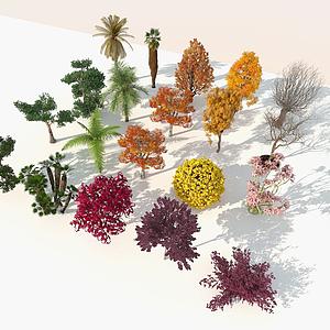 現代室外精品樹木組合模型