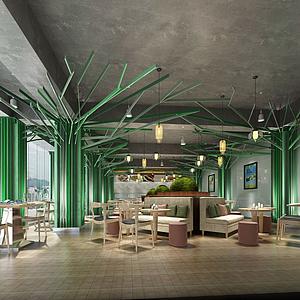 创意餐厅模型