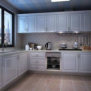 简欧厨房3d模型