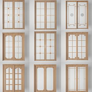 廚房陽臺玻璃門組合模型