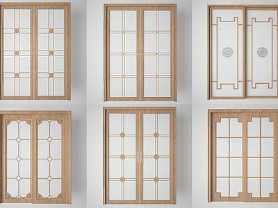 廚房陽臺玻璃門組合3d模型
