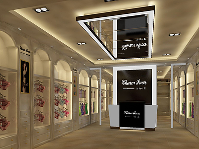內衣店3d模型