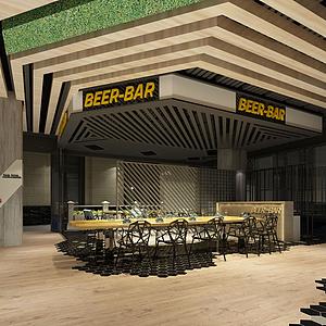 3d户外餐厅模型